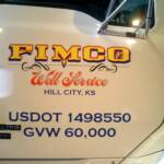 Logo Design and Vinyl Truck Graphics, Fimco Well Service, Hill City, Kansas