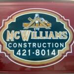 Custom Logo Design and Vinyl Graphics, McWilliams Construction, Hill City, Kansas