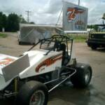Custom Vinyl Sprint Car Lettering and Numbers, Radcliffe Sprint Car, Hill City, Kansas