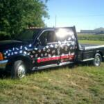 Custom Layered Vinyl Graphics, Full Deck, Scarecrow Sign Co, Hill City, Kansas